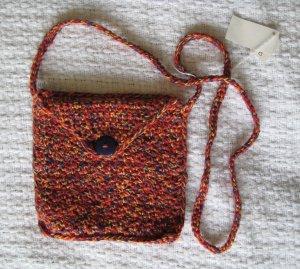 Hand Crocheted Envelop Bag (iiem # BP0001) - Cotton Blend - Color:Mexicana