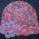 Hand Crocheted Cloche with Flower Pin - Adult Average (item # SH0008) - Festival