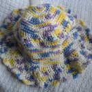 Hand Crocheted Cotton Sun Hat (item # SH0015) - VIolet Veil Ombre - Adult Average