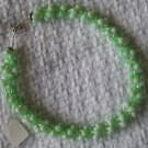 Hand Crocheted Glass Bead Necklace - Light Green