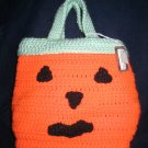 Hand Crocheted Pumpkin Tote - (item # BT0003)