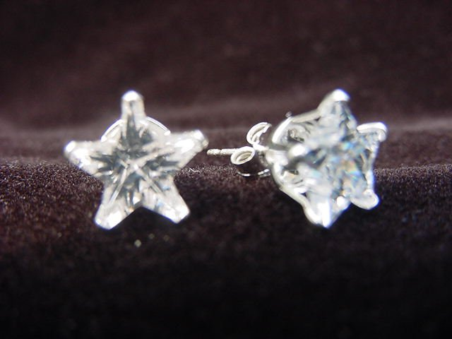 Sterling Silver Star-Shaped Studs