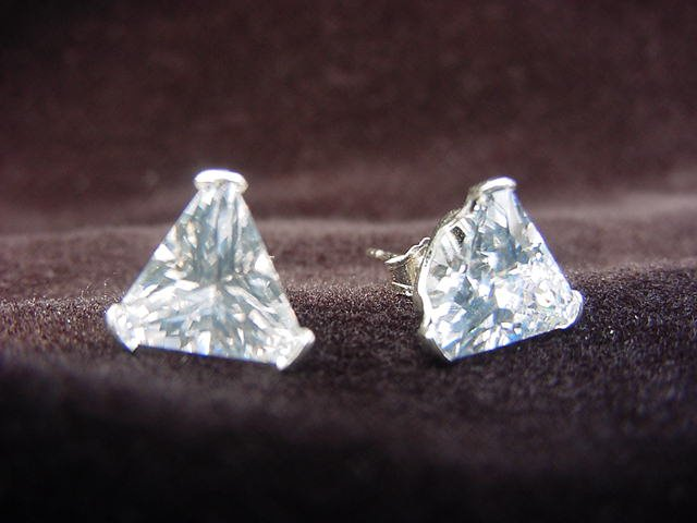 Sterling Silver Triangle-Shaped 8mm Studs