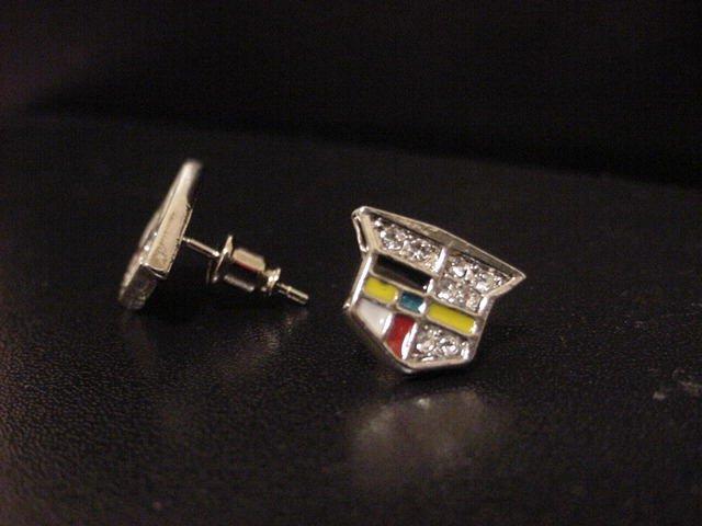 Quadruple Silver Plate Cadilliac Earrings