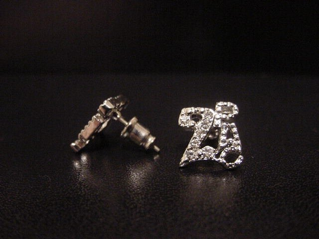 2PAC Silver Plate Earrings
