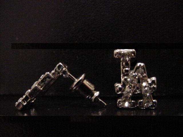 LA Silver Plate Earrings