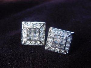 Quadruple Silver Plate Earrings