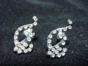Baby Phat Silver Plate Earrings