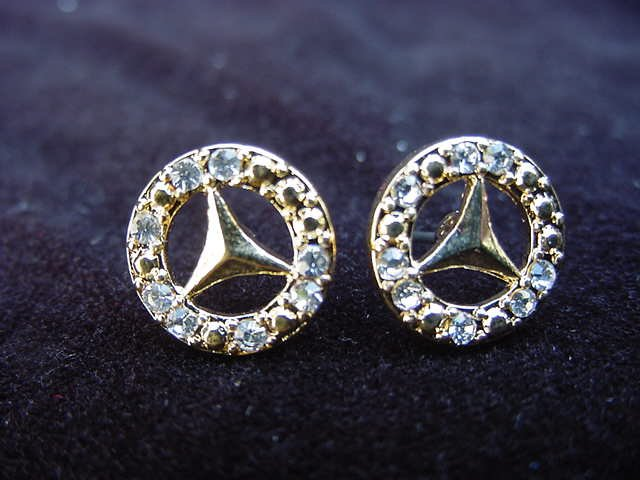 Mercedes Logo Plated Earrings