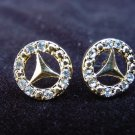 Mercedes Logo Plated Earrings