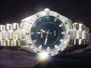Ice Out Black Background Watch