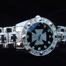 Paved Maltese Cross - black background Watch