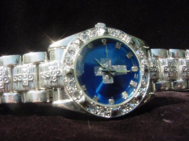 Paved CROSS - blue background Watch