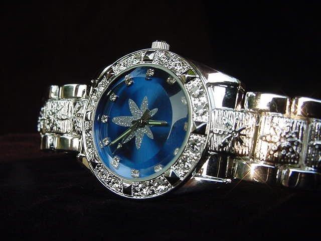 Paved Marijuana - blue background Watch