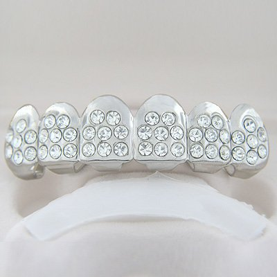 Fort-Eight Points of Ice Rhodium Plated Playa Grillz