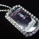 Iced out Scarface dog tag pendant with 36 inch chain