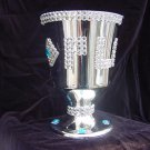 Platinum Playa Plastic platinum tone Don Juan style pimp cup with iced out trim