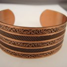 Fabulous Vintage engraved Copper Cuff Bracelet