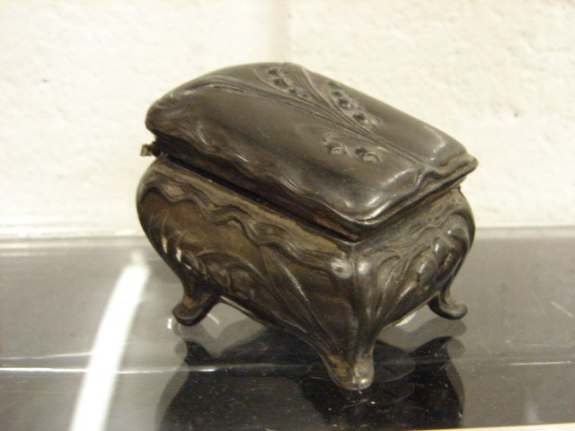 Victorian Metal Jewelry Casket Box