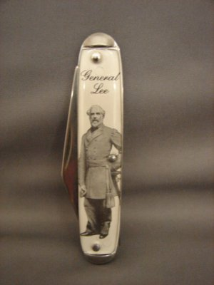 Collectible General Lee Photograph Pocket Knife