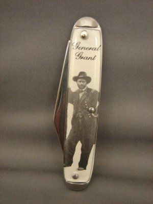 Collectible General Grant Photograph Pocket Knife
