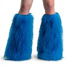 Blue Furry Leg Covers