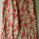 CLEARANCE UNITS PETITE Pink/ Khaki Linen Pants Size/Sz Large PL