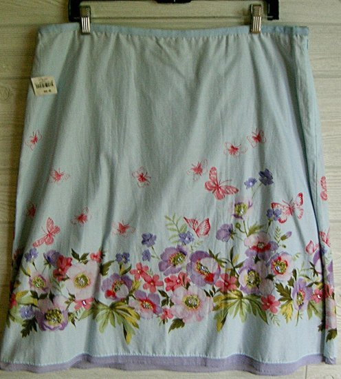 CLEARANCE NWT LIZ CLAIBORNE Cotton Floral Skirt Size Sz 16 NEW