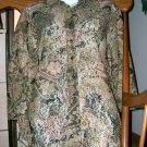 CHICOS DESIGNS Brown Autumn Lace Top/Shirt Size/Sz 0!