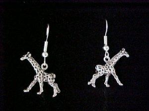 Silvertone giraffe earrings
