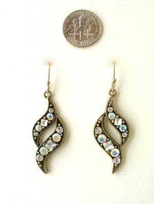 Rhinestone swirl earrings
