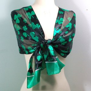 Shamrock Scarf- Black and Green