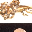 Antiqued goldtone Standing Angel Pin