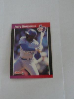 Jerry Browne Baseball Card