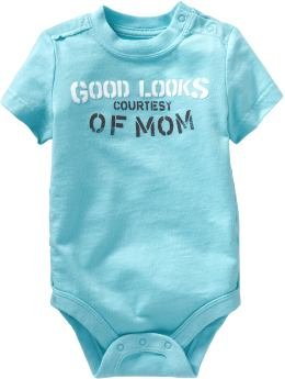 Baby Gap Romper - Good Looks Courtersy of Mom (12-18M)