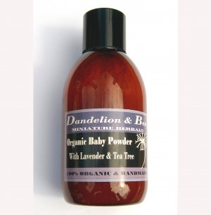 Organic baby powder with lavender and tea tree