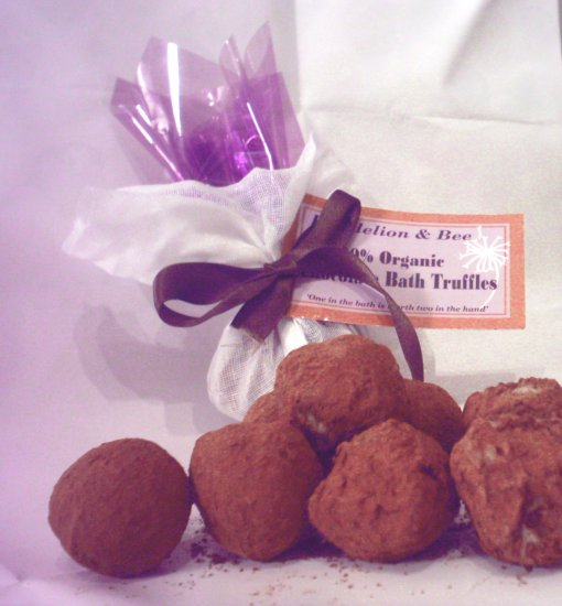 100% Organic Chocolate Bath Truffles