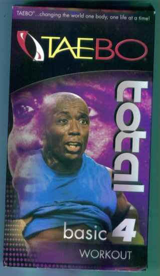 Taebo Total Basic 4 Workout Tae Bo Fitness Vhs Tape Video