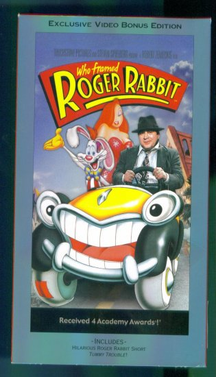Who Framed Roger Rabbit ~ Video Bonus Edition ~ Family Animation Vhs Video