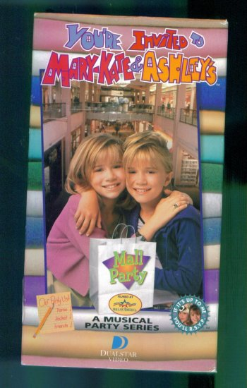 You're Invited To Mary-Kate & Ashley's Mall Party ~A Musical Party Series ~ Vhs Video