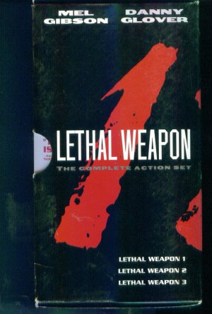 Lethal Weapon The Complete Action Set Danny Glover Mel Gibson VHS Video Tape Box1