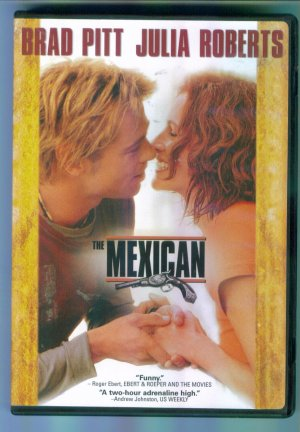 THE MEXICAN Brad Pitt Julia Roberts DVD Movie Romance Comedy 1M