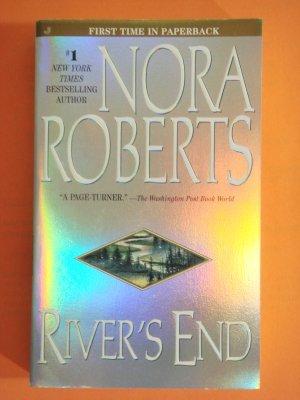 Nora Roberts RIVER'S END Paperback Romance Suspense Jove loc8