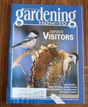GARDENING How To November December 2000 Back Issue Magazine Winter Visitors Birds
