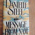 Danielle Steel Message From Nam Hardcover Romance Suspense Fiction 1B