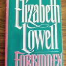 Elizabeth Lowell FORBIDDEN Hardcover Romance Suspense Fiction 1B