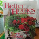 BETTER HOMES AND GARDENS December 2007 Christmas Back Issue Decorating Home Magazine location50