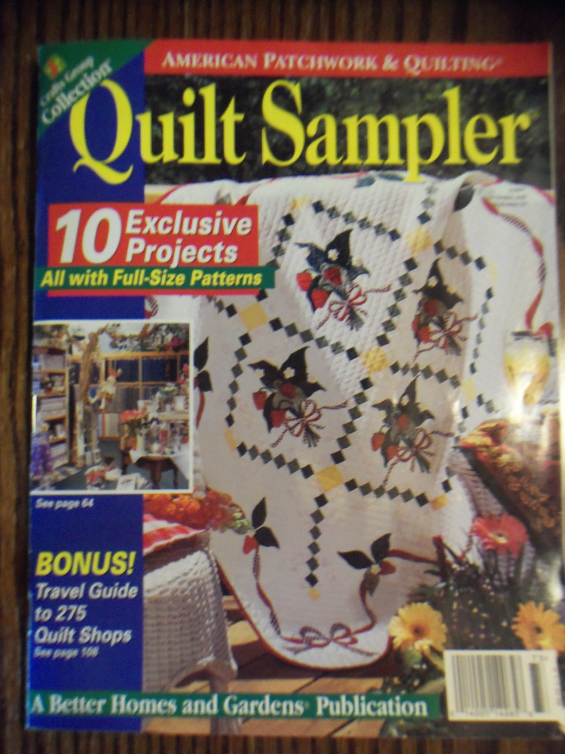 Better Homes And Gardens Magazine >> American Patchwork & Quilting Quilt Sampler 1997 Back Issue loc14