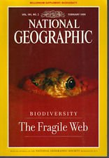 National Geographic February 1999 With Pullout Poster Volume 195 Number 2 Back Issue location32