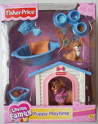 Fisher Price PUPPY PLAY loving family NEW twin time dog